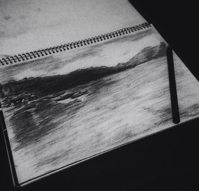 Panorama pahawang island  #sketch #art #artwork #drawing #panorama #pahawang