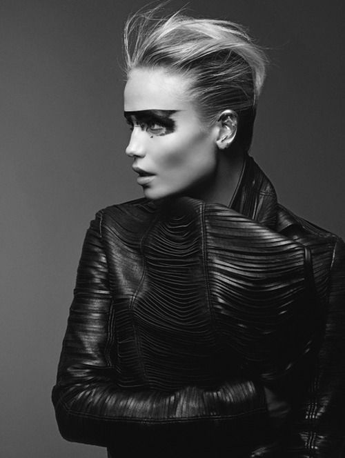 leather | mask | fashion | editorial | profile | make up | mask | rad | edgy | attitude