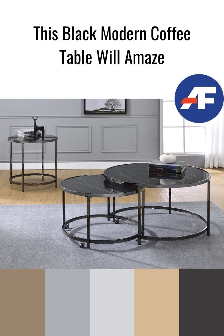 This Black Modern Coffee Table Will Amaze American Freight Blog Coffee Table Coffee Table Inspiration Modern Coffee Table Sets [ 1102 x 735 Pixel ]