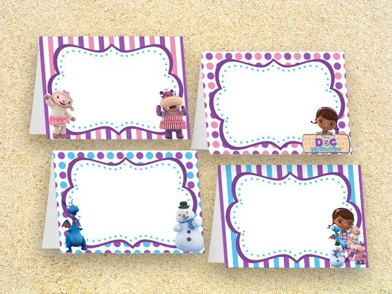 Doc McStuffins Party Food Labels Instant Download by MadPhotoge