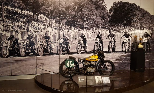 1947 Harley WLA Racer  http://motoadventurer.com/2016/02/19/the-harley-davidson-museum-the-history-of-milwaukee-muscle/