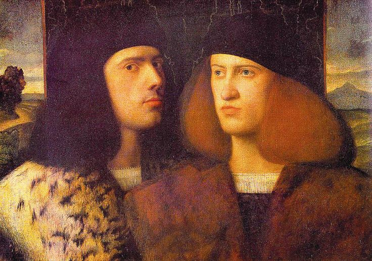 Portrait of Two Young Men, Giovanni Cariani: