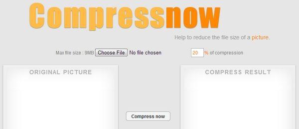 CompressNow, herramienta web para comprimir imágenes
