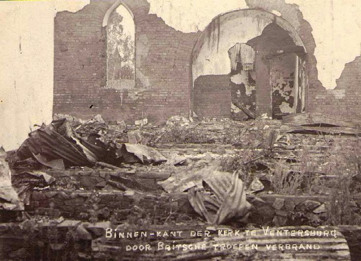 Ventersburg Kerk/ church burnt by the British