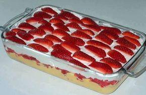 Receita de Torta Gelada de Morango - Show de Receitas