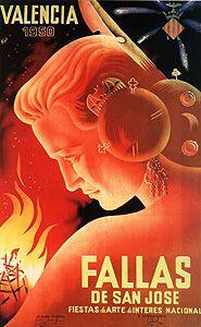 Cartel Fallas del año 1950