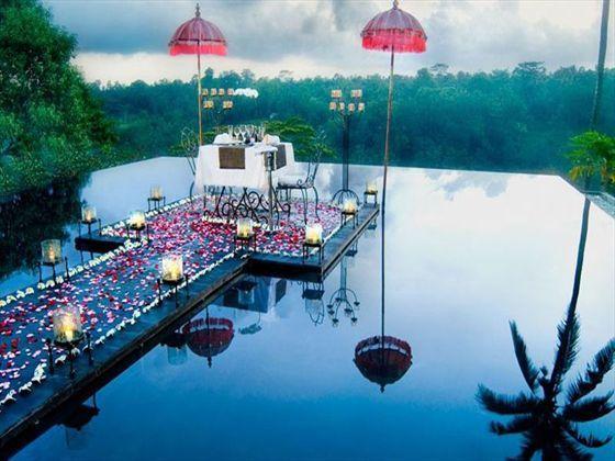 Kupu Kupu Barong Villas & Tree Spa, Bali. Romantic wedding ceremony.