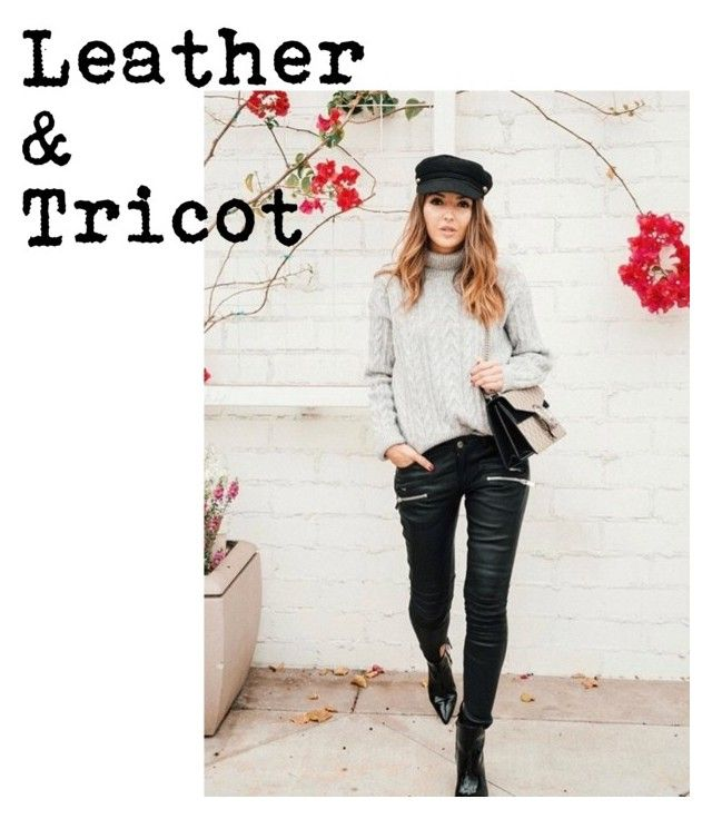 """""""Leather&tricot"""" by eva-dato on Polyvore featuring moda y DATO"""