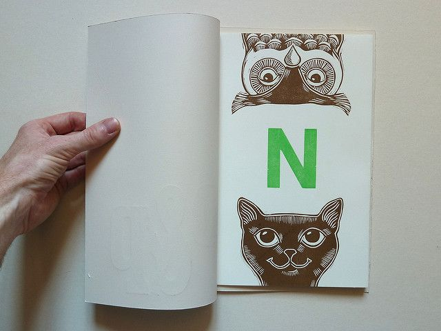 Linocut & letterpress book workshop   This book was made in …   Flickr