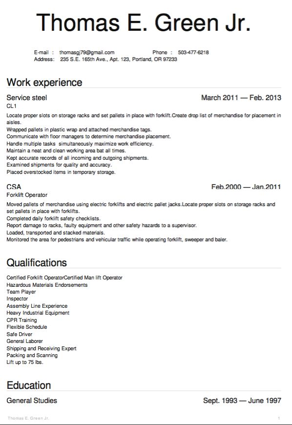 9 best My future images on Pinterest Career, Happiness and Health - general laborer resume