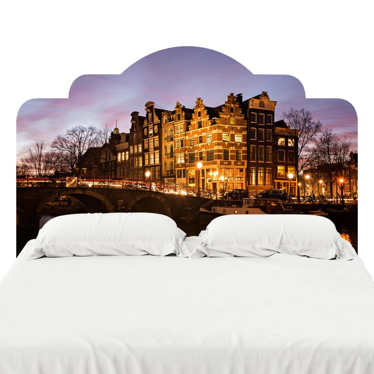 Amsterdam Canal Houses Headboard Decal
