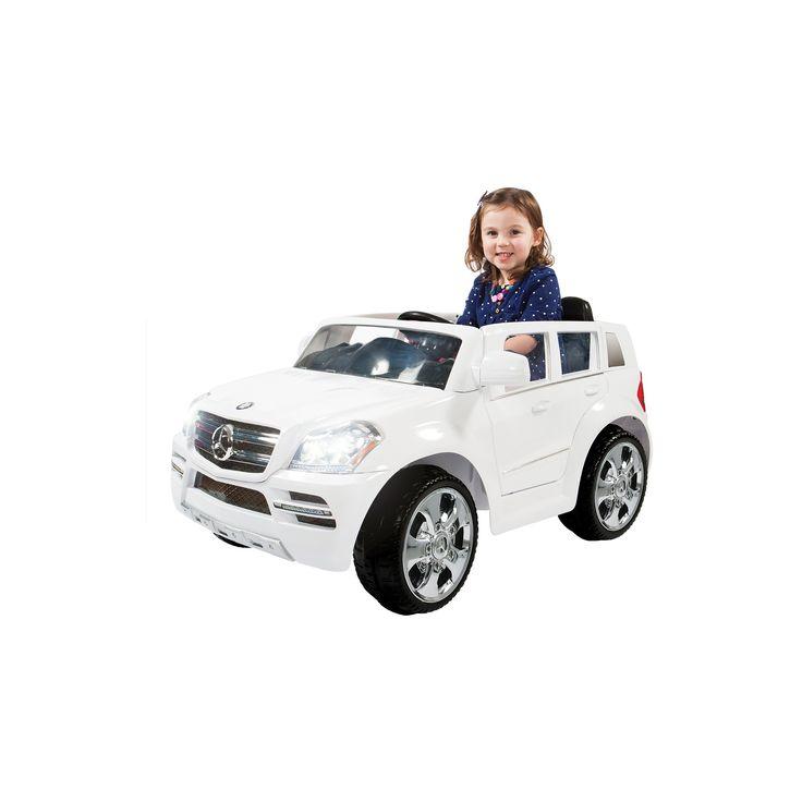 Rollplay Kids' Ride On 6V Mercedes Benz GL450 Suv - White