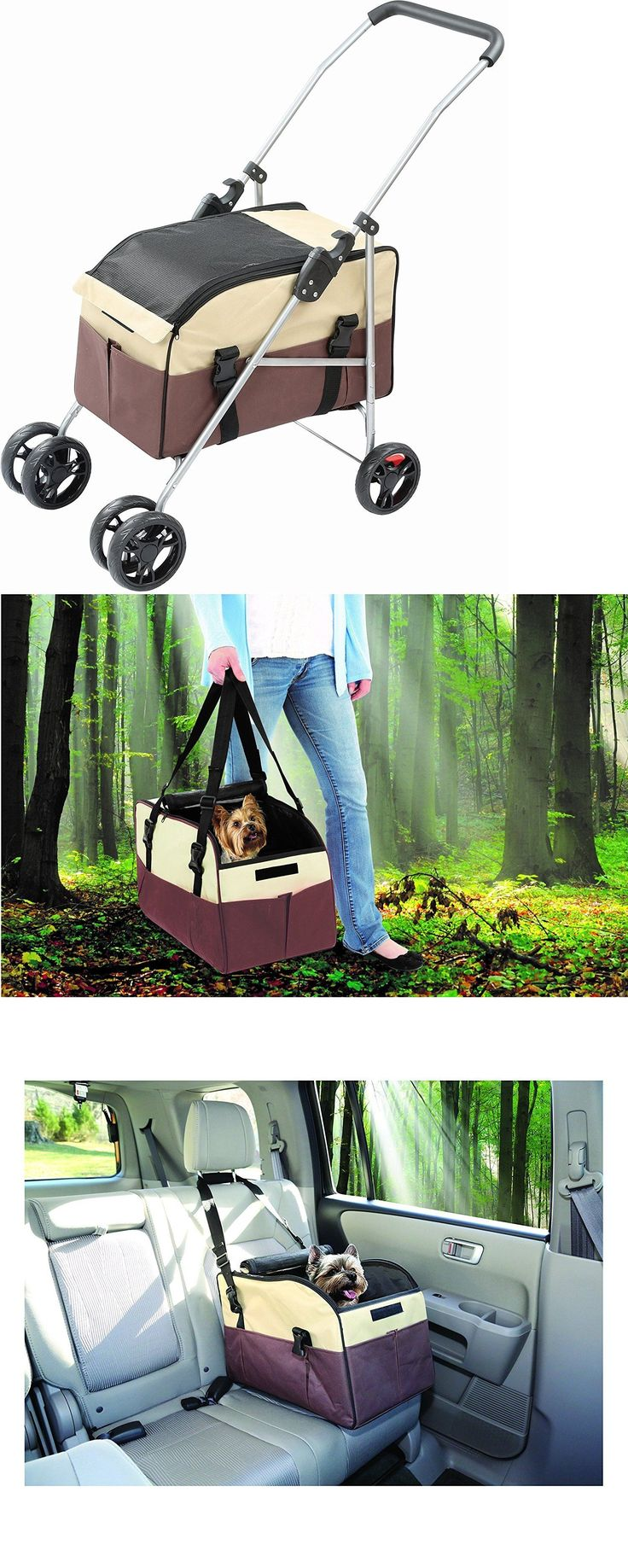 Strollers 116380: Pet Dog Cat Stroller Car Seat And Travel Carrier W Adjustable Shoulder Strap 3In1 -> BUY IT NOW ONLY: $59.99 on eBay!