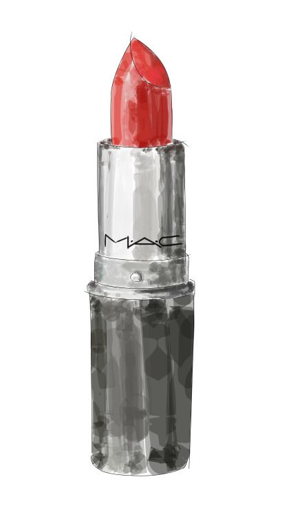 I've got that red lip classic thing that you like: MAC 'Russian Red'