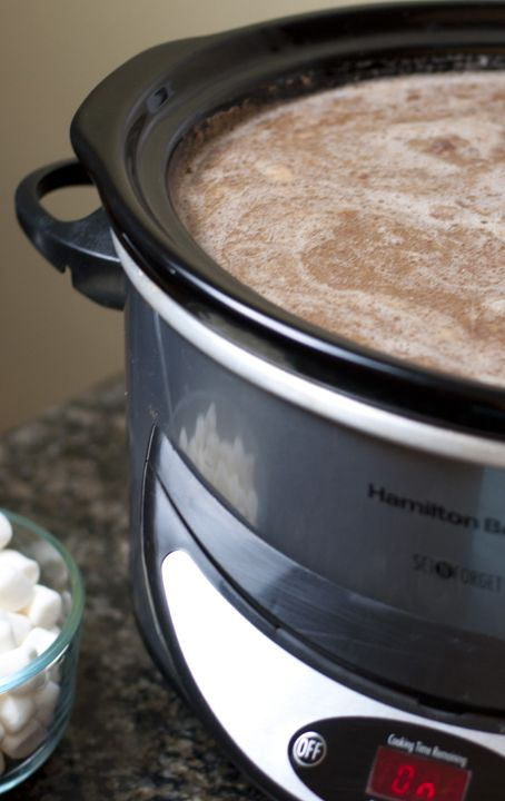 Creamy Crock Pot Hot Chocolate recipe that is easy to make and perfect drink for the winter holidays.