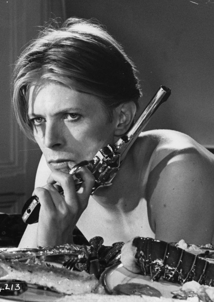 david bowie--- His eyes and this gun makes him dangerous.... and I like it :)