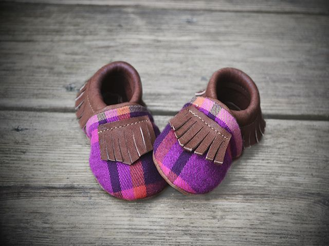Tomahawks - The Fisher mocs in pink plaid
