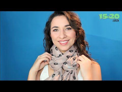 ▶ Como hacer nudos para bufandas, pashminas y fulares - YouTube