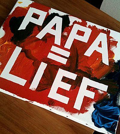 papa is lief schilderij