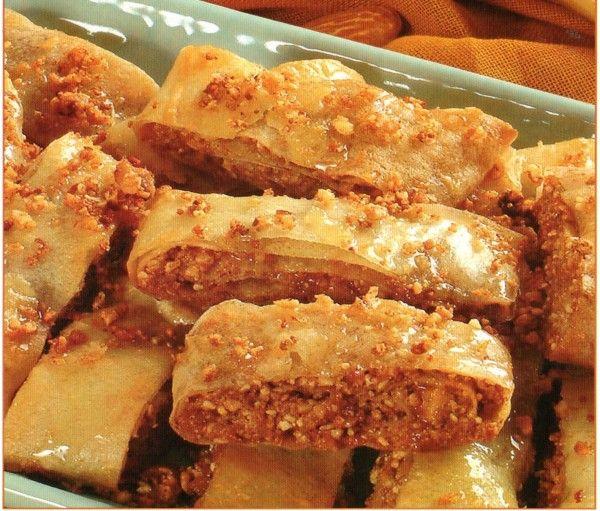 Rouleaux feuillet s aux fruits secs facile choumicha - Cuisine de choumicha recette de batbout ...