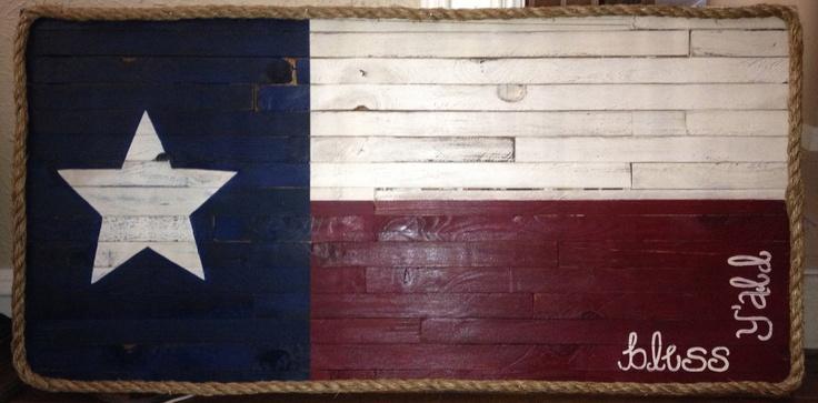 texas flag diy with wood pallet diy pinterest. Black Bedroom Furniture Sets. Home Design Ideas