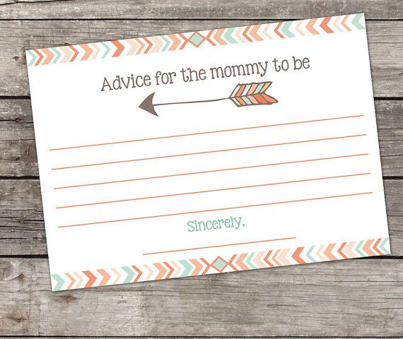 Tribal Mommy Advice Card INSTANT DOWNLOAD by RibbonsAndPixels