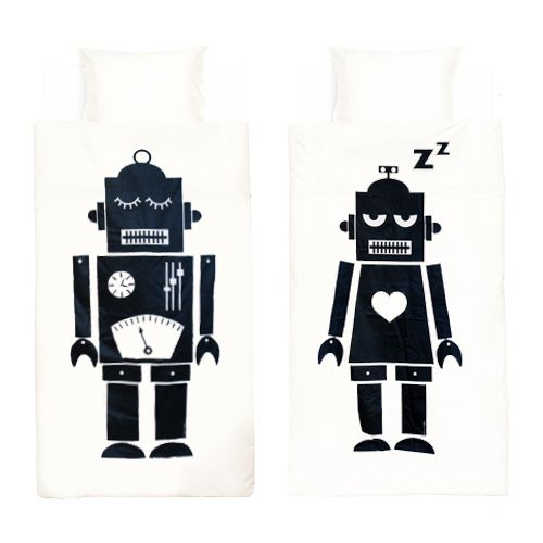 #DIY Make your own #bed #sheets #Robots | fun.kyti.me Funkytime