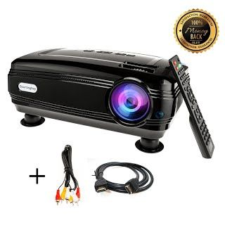 [Features & Benefits] HD projector, Sourcingbay BY58 1080P 3200 Luminous Efficiency LED Projectors Home Cinema Theater for Outdoor Indoor Movie Night, Support Xbox VGA USB Speaker HDMI Laptops Tablets Smartphones Games