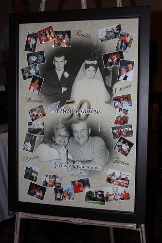 50th anniversary collage - perfect for a party decoration