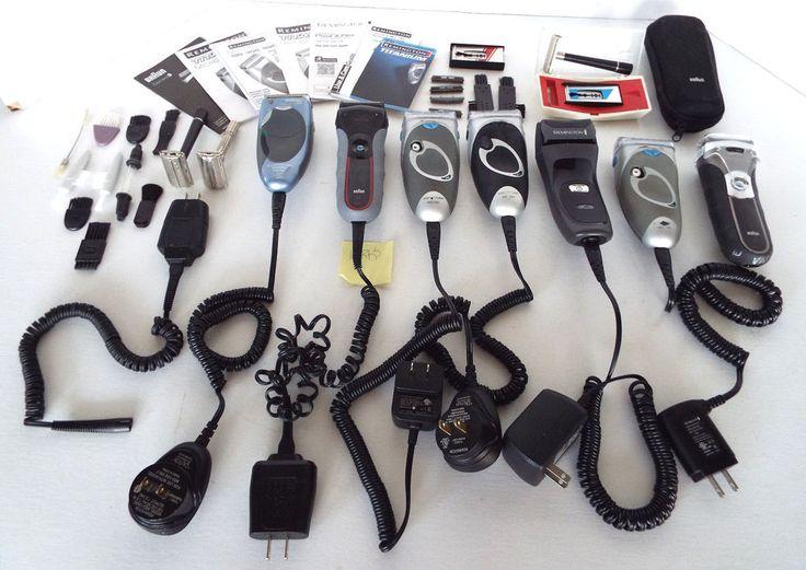 Large Lot Razors Electric Shavers Parts Repair Remington Braun Schick Gillette
