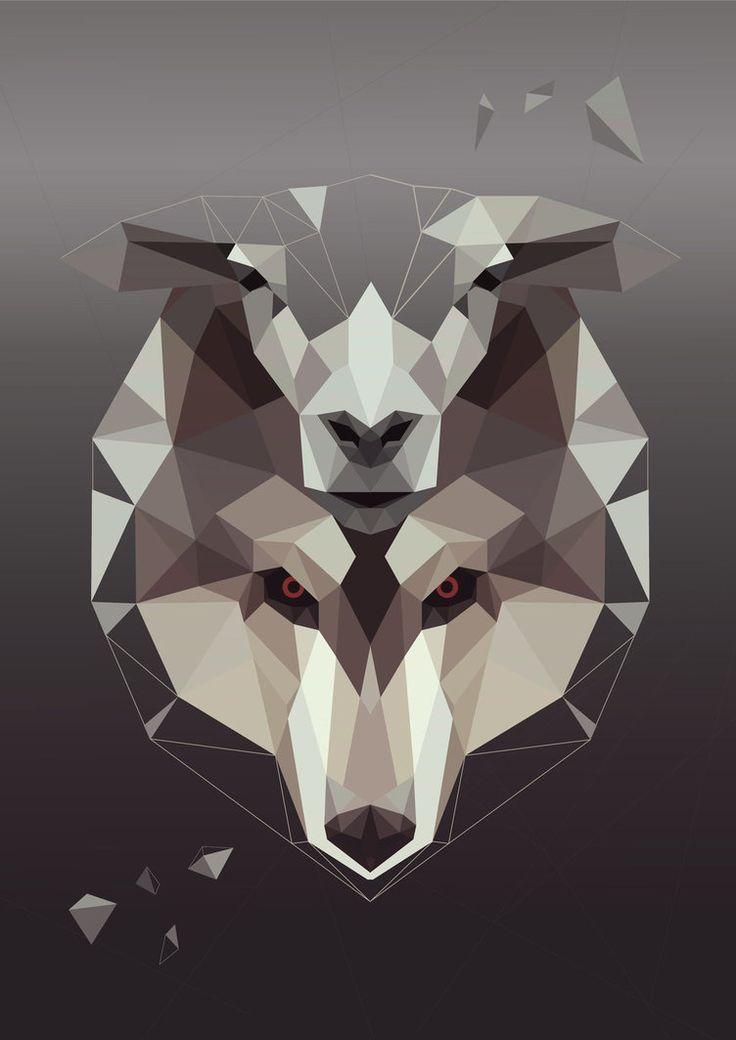 Deer and Wolf Design by StratospheremaN.deviantart.com on @DeviantArt