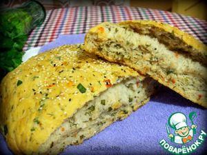 Хлеб с помидорами и зеленью