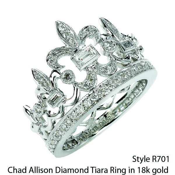 Famous Diamond tiara ring by Chad Allison!  It's simply gorgeous.  Style R701