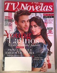 TV Novelas Magazine May Mayo 2016 PRINCE ROYCE EMERAUDE TOUBIA Young Latinos  | eBay