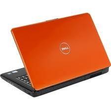 another orange laptop