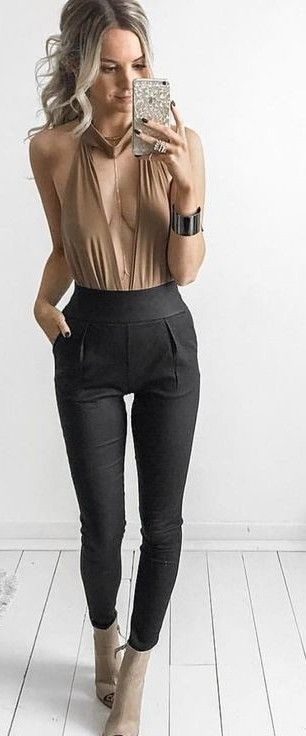 #whitefoxboutique #spring #Summer #outfitideas | Bodysuit & Back It Up Pants                                                                             Source