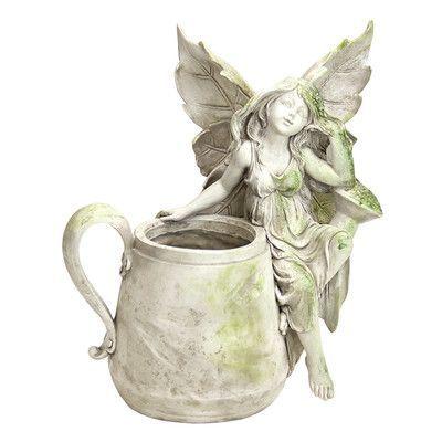Exhart Standing Beside Fairy Pot Statue