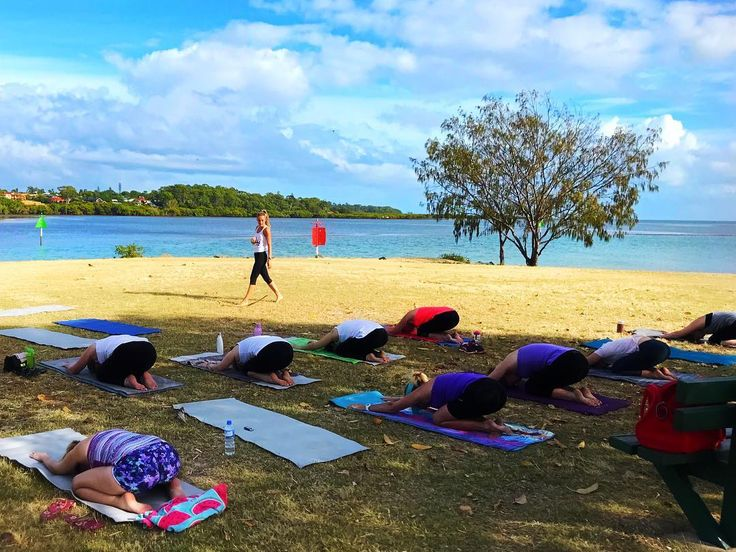 Another Sunday. Completely in my element 🙏🏼 I am so lucky. It doesn't get much better than this 💕✨ _ Class reminders for tomorrow 😄 if you have not yet booked your spot, please PM me today! _ 7am Sunday | $10.00 | Raby Bay Foreshore, right by the water 🙏🏼. Such a beautiful location. Join us for a rejuvenating and refreshing pure Yoga class ✨. _ 9am Sunday | $15.00 | Cleveland Showgrounds, under The Plaza where we are lucky to get a beautiful cool breeze🍃 💪🏽! Pilates x Yoga to really…