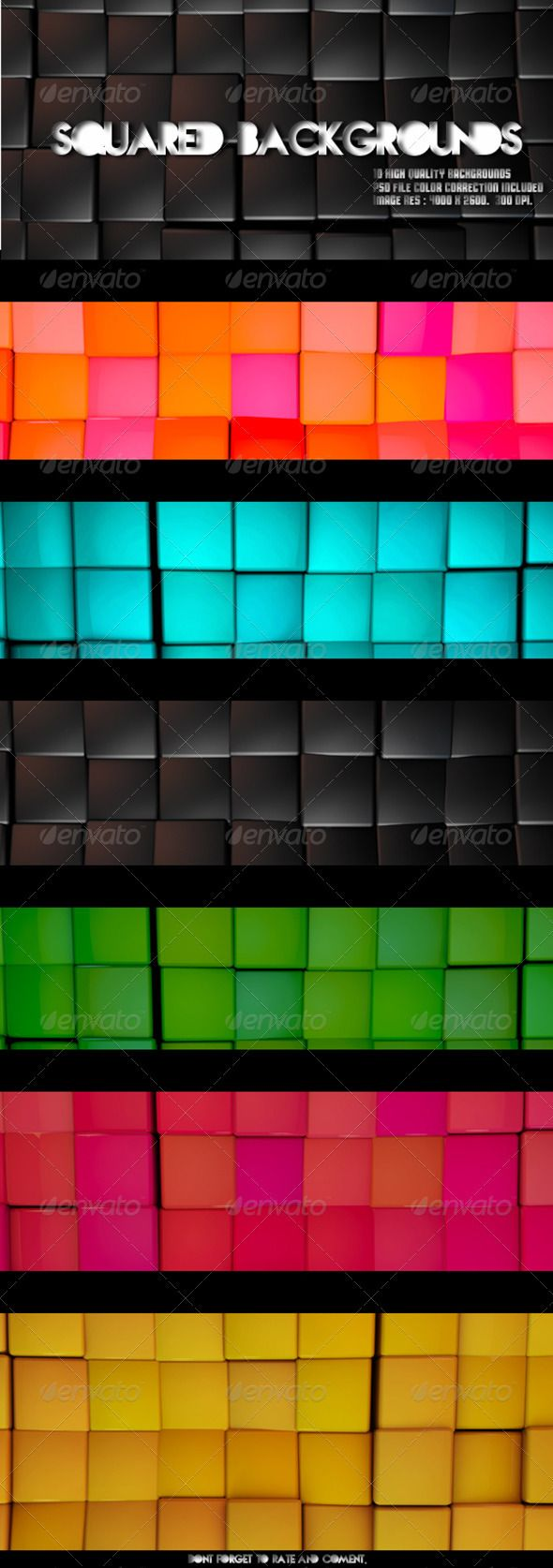 Square Backgrounds - 10 High Quality Backgrounds
