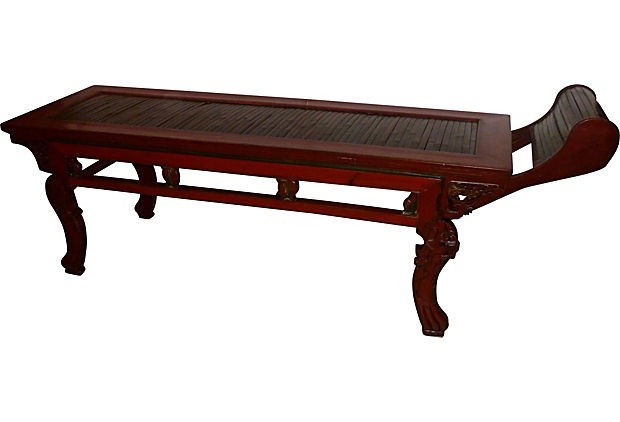 19th-C Chinese Bamboo Daybed Antiques Pinterest Chinese