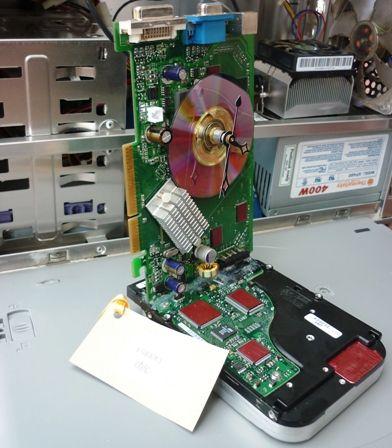 #ladybird2turtle #pinadayoct #men $50.00 Clock Upcycled Computer Hard Drive by GeekChic on Handmade Australia