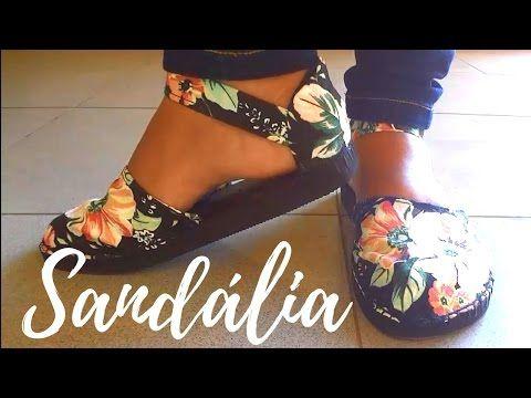 DIY - Como fazer sandálias de chinelos de borracha - Magna Dias   Cantinho do Video