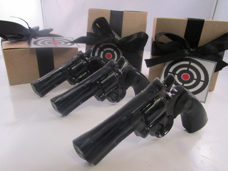 3 Gun Soap - cool gifts for guys, gift for him, stocking stuffer for man - black gun - gift for men by BubbleCitySoap on Etsy https://www.etsy.com/listing/213197153/3-gun-soap-cool-gifts-for-guys-gift-for
