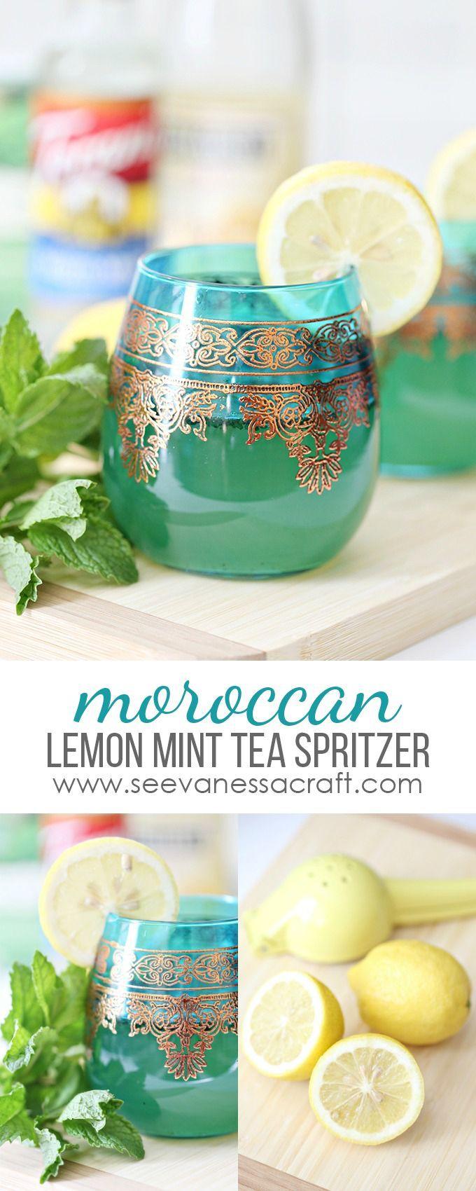 Moroccan Lemon Mint Tea Spritzer Drink Recipe @worldmarket #worldmarkettribe #FallHomeRefresh #ad