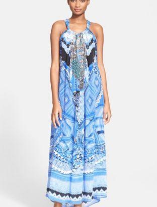 Camilla 'A World Between the Warp' Print Silk Drawstring Dress. More info : http://shoppingshoph.com/shop-details/storee-stripe-gaucho-romper-1435603864010121300