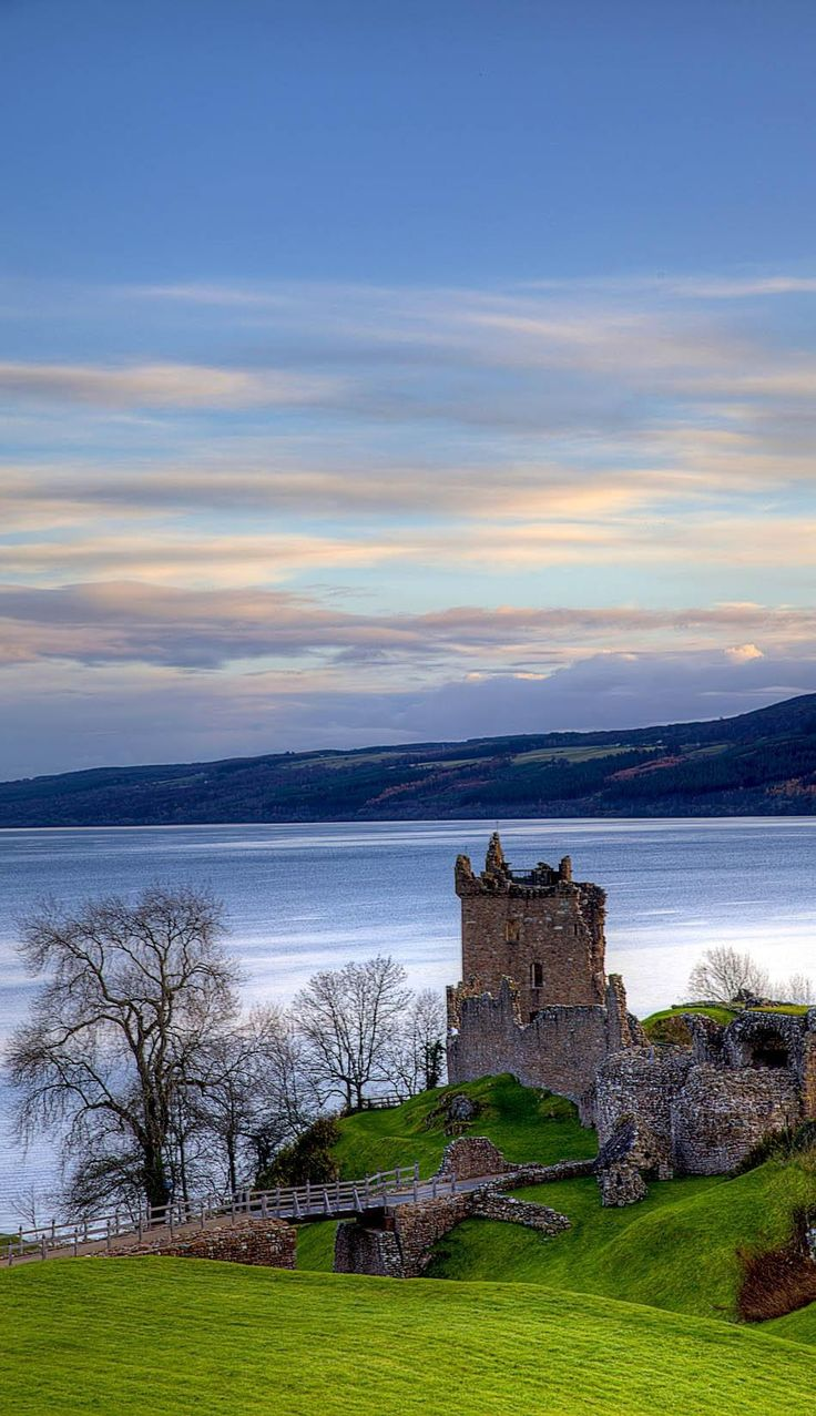 The Urqhart Castle near by Ness Loch, Scotland   Top 10 Tourist Attractions in Scotland