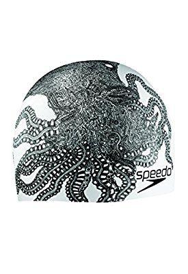 Speedo Silicone 'Creaturized' Swim Cap, White