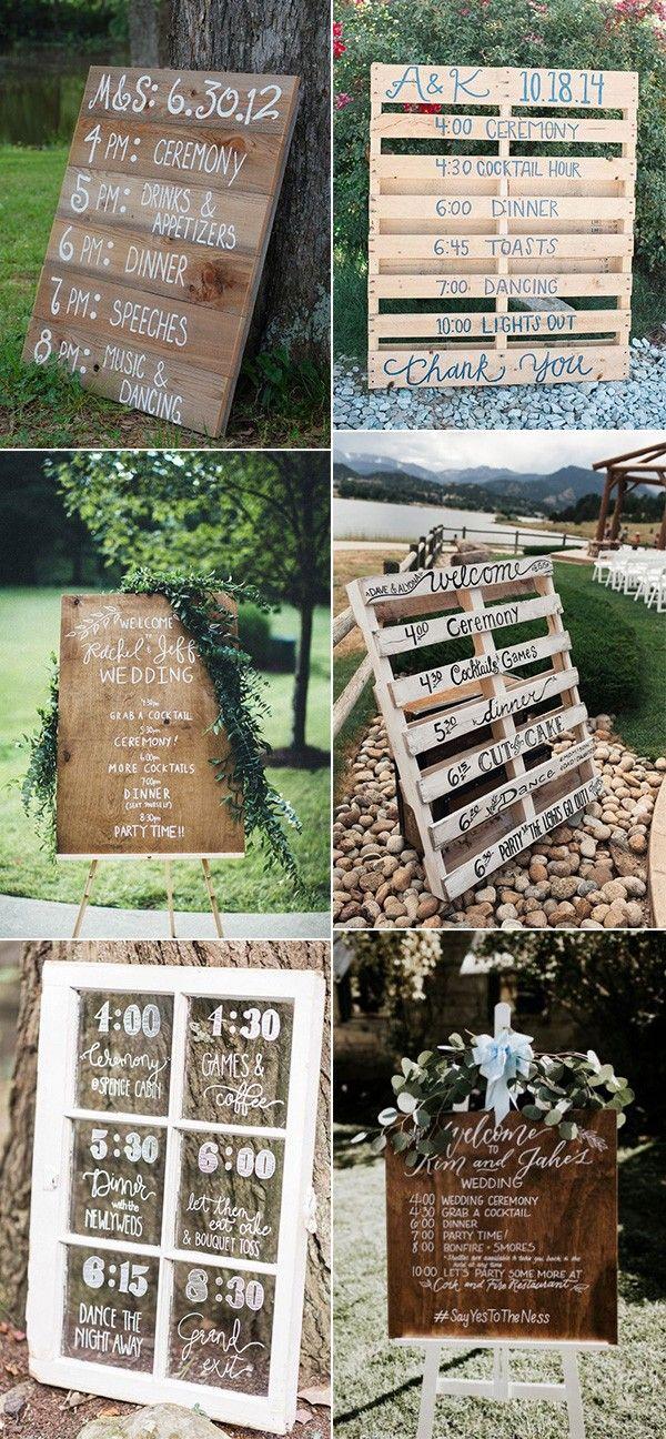 20 Creative Wedding Timeline Sign Ideas To Get Inspired Emmalovesweddings Wedding Day Timeline Wedding Timeline Outdoor Wedding