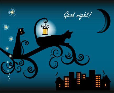 Good Night cute cat animated dog pets gif good night good night greeting
