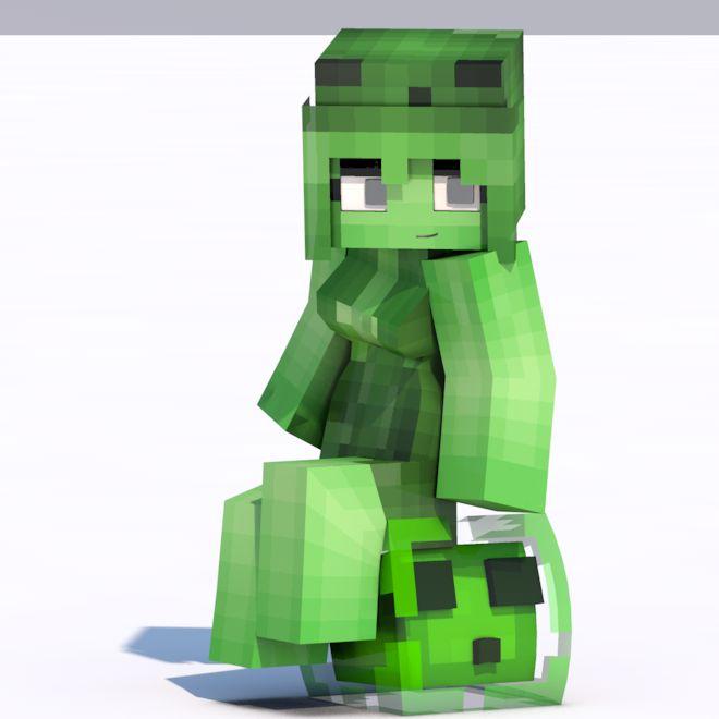 Minecraft Girl Skins Slime Skin